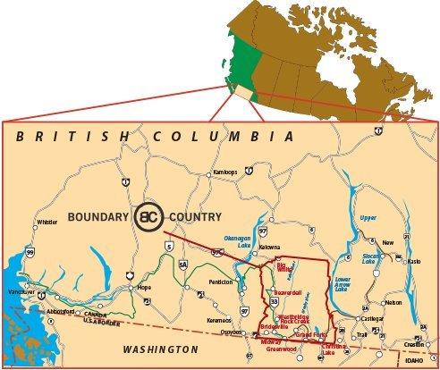 Boundary County Location Map